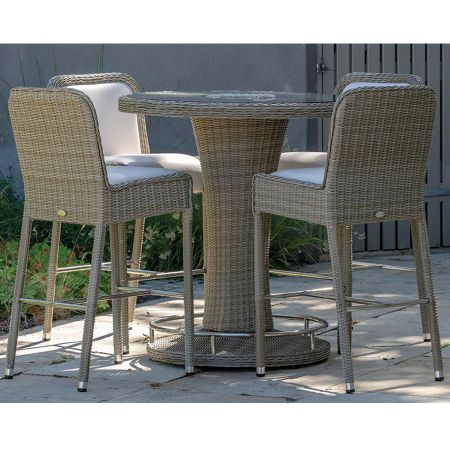 Bramblecrest Monte Carlo Round Bar Set with Stools - image 1