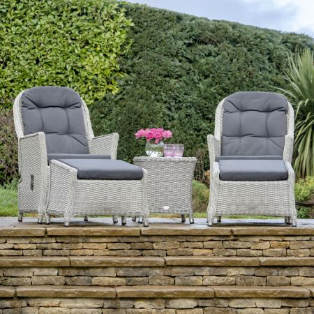 Bramblecrest Monterey Recliner Set with 2 Footstools & Ceramic Top Side Table - image 1