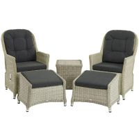 Bramblecrest Monterey Recliner Set with 2 Footstools & Ceramic Top Side Table - image 3
