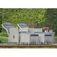 Bramblecrest Monterey Recliner Set with 2 Footstools & Ceramic Top Side Table - image 2