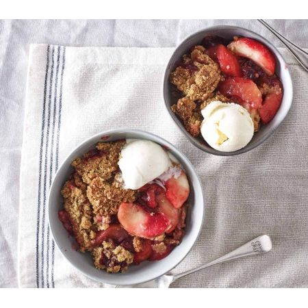 COOK Bramley Apple & Blackberry Crumble (serves 2)