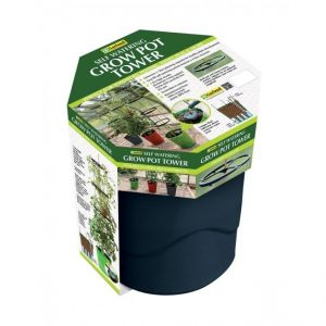 Garland Self Watering Grow Pot Tower in Anthracite  - image 1