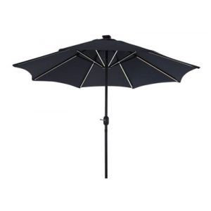 LeisureGrow Jasmine Solar Powered 2.7m Parasol in Grey - image 1