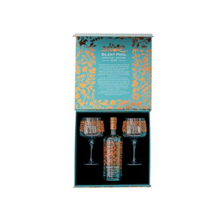 Silent Pool Gin & Two Copa Glasses Gift Set