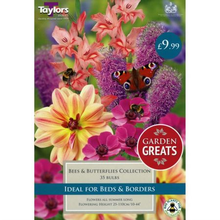 Taylors Bulbs Garden Greats Bees & Butterflies Collection (35 Pack)