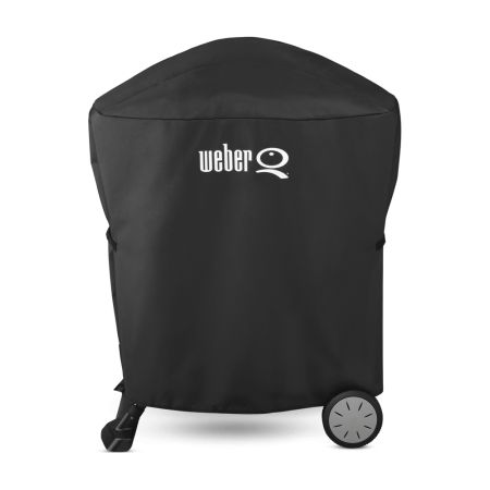 Weber Premium Grill Cover- Built for Q 100/1000/200/2000 with stand or portable cart
